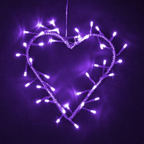 purple string lights silver metal purple led garland wreath