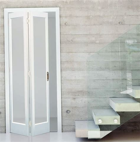 bifold closet doors  frosted glass gallery doors