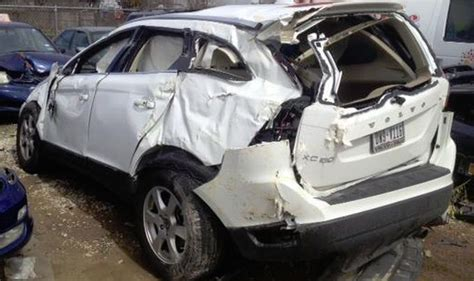Doctor After Car - xc90 after being hit by a delivery going 45 mph