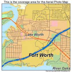 aerial photography map of lake worth tx