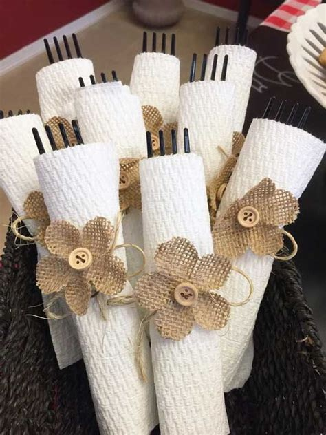 Ideas For Folding Paper Napkins - diy ideas of burlap wedding napkin holder designs