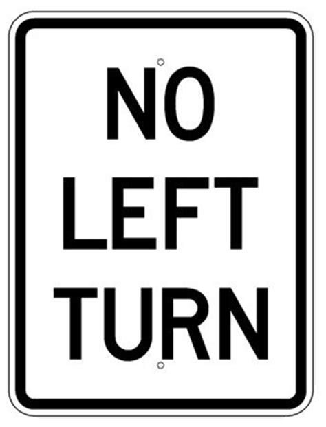 no left no left turn l traffic sign
