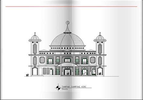 design masjid pdf gambar design masjid besar 40 x 40 m 2d home design