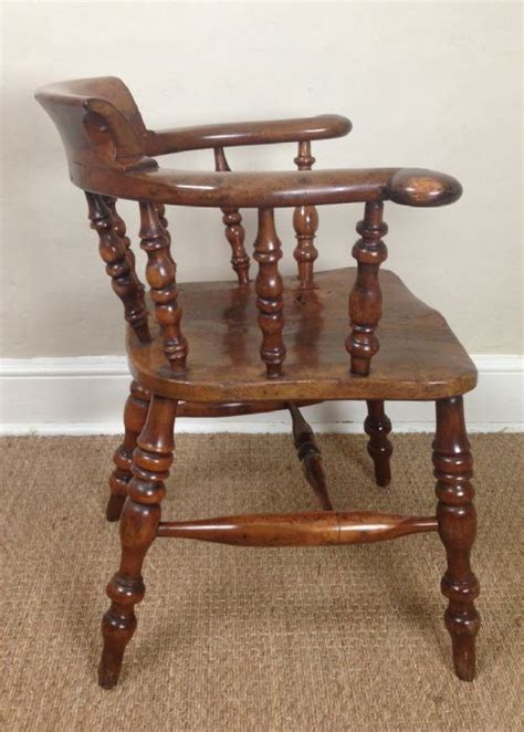 Wooden Captains Chairs by A Yew Wood Captains Chair C 1880 250175