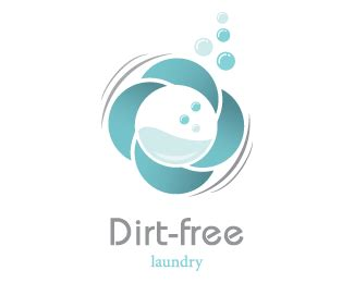 logo design laundry service dirt free laundry designed by dalia brandcrowd