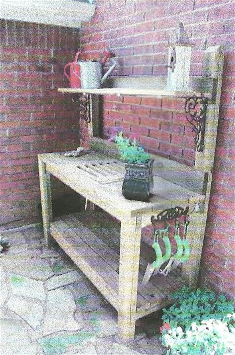 Garden Potting Bench Ideas Signature Gardens Potting In Diy Style