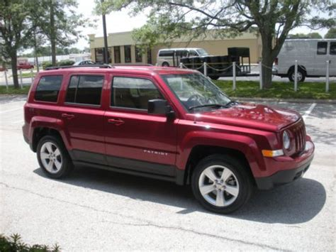 maroon jeep patriot buy used latitude x 4wd auto trans leather interior power