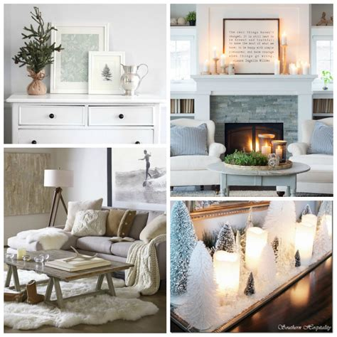 Picture Decorating | clean cozy neutral winter decorating ideas the happy housie