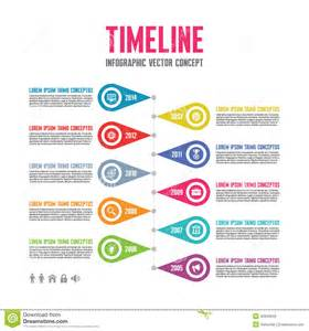 Media Timeline Template infographic vector concept in flat design style timeline template from 37