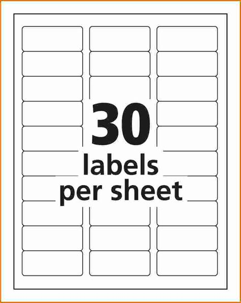 labels 8 per sheet template word avery 8660 label template