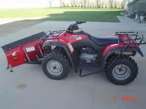 Honda Rancher Snow Plow 2002 Honda Rancher 350 Es 4x4 W 50 Quot Snow Plow Quot Sold