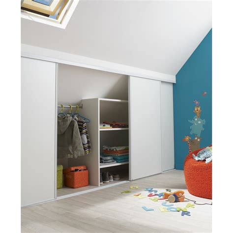 Porte Armoire Coulissante Leroy Merlin by Porte De Placard Coulissante L 180 X H 120 Cm Leroy Merlin