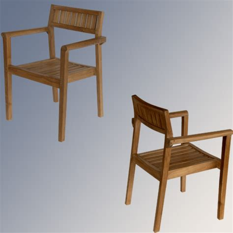 teak outdoor patio modern stacking chair quot pari quot