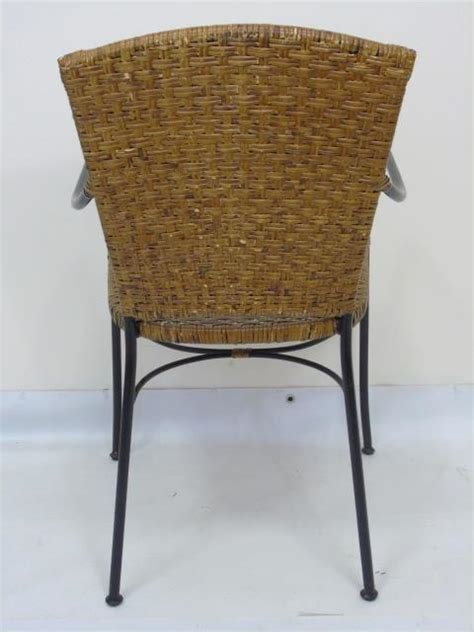 wrought iron dining chairs uk set of four wrought iron wicker dining chairs