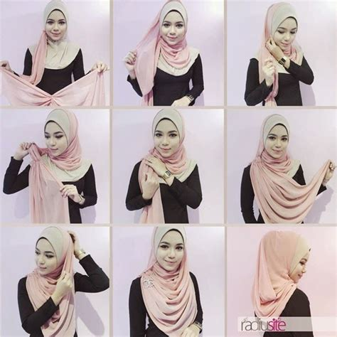 tutorial jilbab pashmina chifon shawl tutorial ideas for hijab pinterest shawl