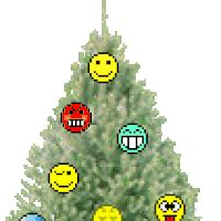 christmas tree moving emoticon terminator hasta la vista baby smiley smilie smileys smilies emoticon emoticons animated
