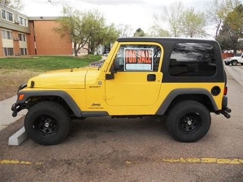 where to buy car manuals 2004 jeep wrangler transmission control find used 2004 jeep wrangler sport 4 0l 6 cyl 5 speed manual 9 200 in colorado springs