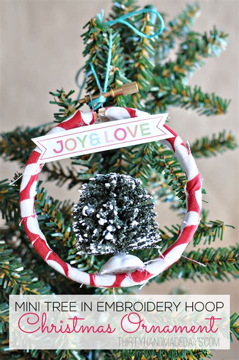 30 Handmade Days - hoop ornament tutorial by thirty handmade days