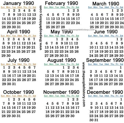 August 1996 Calendar Pin December 1990 Calendar On