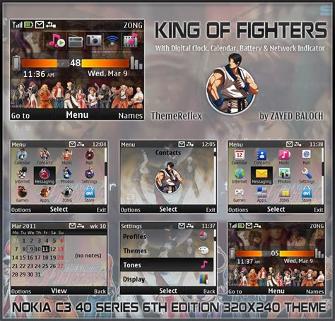 nokia themes reflex king of fighters theme for nokia c3 x2 01 themereflex
