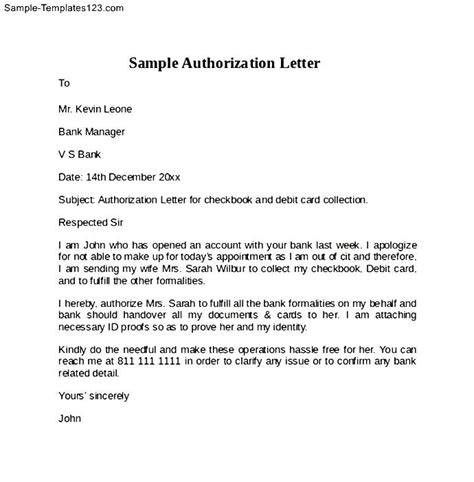 authorization letter to claim money sle authorization letter to claim my money sle of
