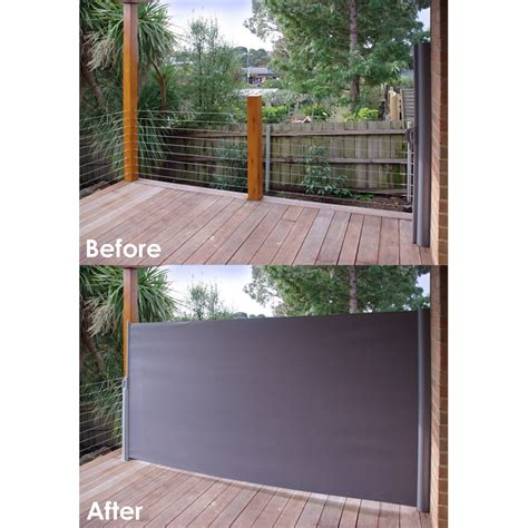Horizontal Awnings Retractable Pillar Products 1 6 X 3m Charcoal Retractable Patio Screen