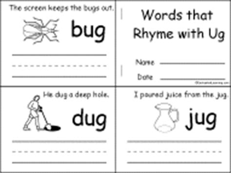 words ending with rug rhymes and rhyming words beginning readers books enchantedlearning