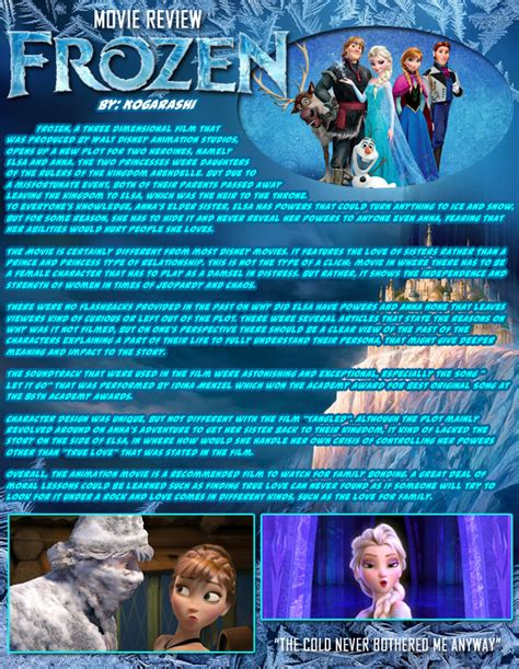 frozen film rating movie review frozen by tellan07 on deviantart