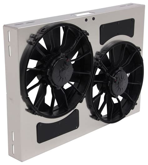 5000 cfm electric radiator fan derale 26 quot dual high output electric radiator fan w