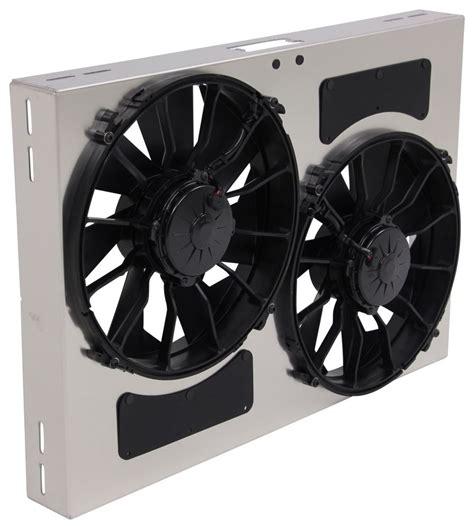 5000 cfm radiator fan derale 26 quot dual high output electric radiator fan w