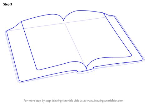 Learn How To Draw An Open Book Everyday Objects Step By Step Drawing Tutorials Drawing Books For Free