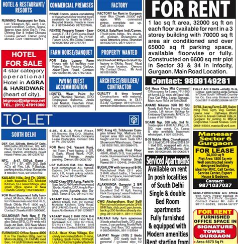 to let template pin newspaper ads sle on