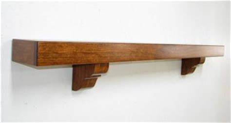 mantel fireplace shelf mantel cherry with brackets