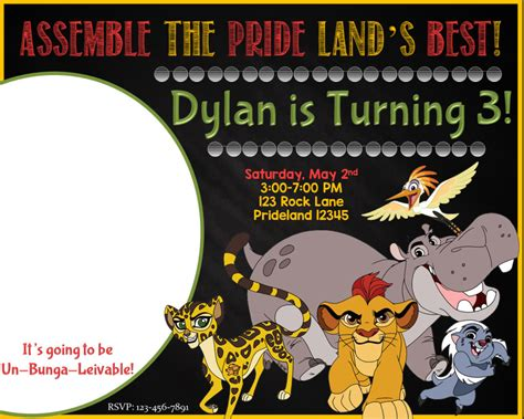 The Lion Guard Birthday Party Ideas And Themed Supplies Birthday Buzzin Free Guard Invitation Template