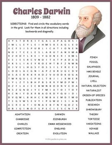 printable word search evolution 57 best images about science puzzles on pinterest names