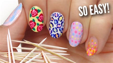 nail art tutorial using toothpick nail art for beginners using a toothpick youtube