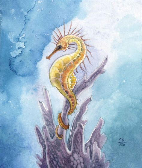 Learn to Create Fantasy Creatures like this Seahorse Drawing