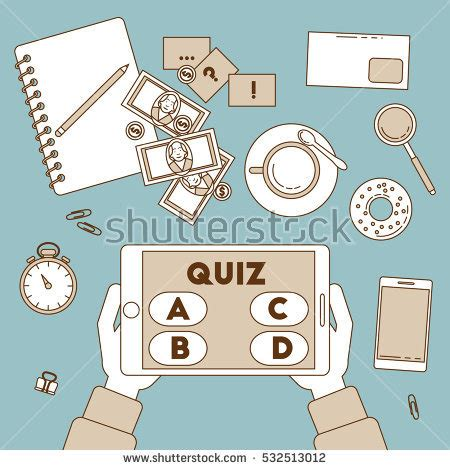 quiz theme with 9 hands online quiz stock images royalty free images vectors