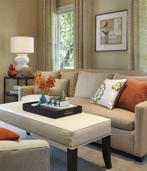 orange and white living room ideas light living room yellow curtain white wall color black gloss wood table orange wall