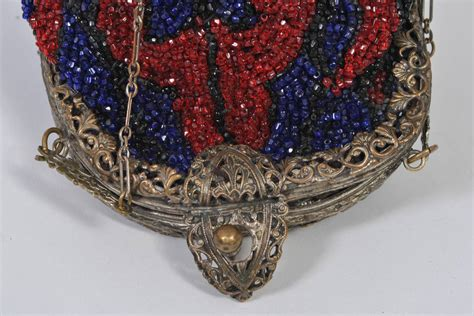 beaded purses for sale 1930s and blue beaded purse for sale at 1stdibs