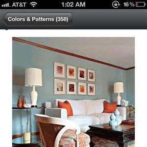 Blue Living Room Schemes Color Scheme Terra Cota Sea Blue For Living Room From