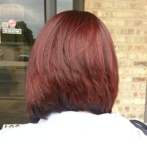 how to cut hair so it stacks red hair stack haircut hair makeup pinterest