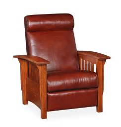 Mission Style Recliner Classic Mission Recliner By Dutchcrafters Amish Furniture