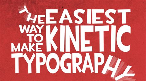 kinetic typography tutorial after effects for beginners the easiest way to make kinetic typography