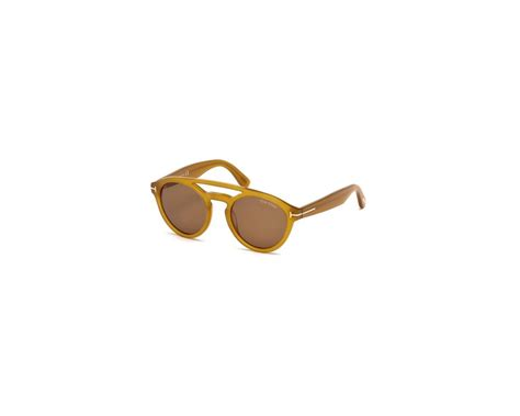 tom ford clint yellow brown lens tf0537 41e lunettes