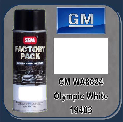 sem 19403 sem factory pack basecoat gm paint code wa8624 quot olympic white quot 16oz aerosol