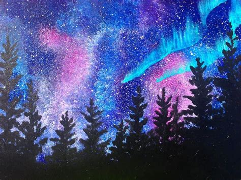 acrylic painting lessons for beginners beginner acrylic lesson aura borealis landscape