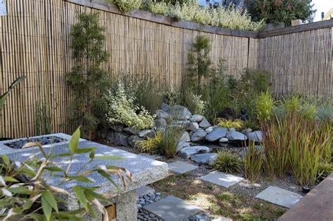 Landscape Ideas To Hide A Fence Bright Bamboo Fencing In Landscape Asian With Privacy