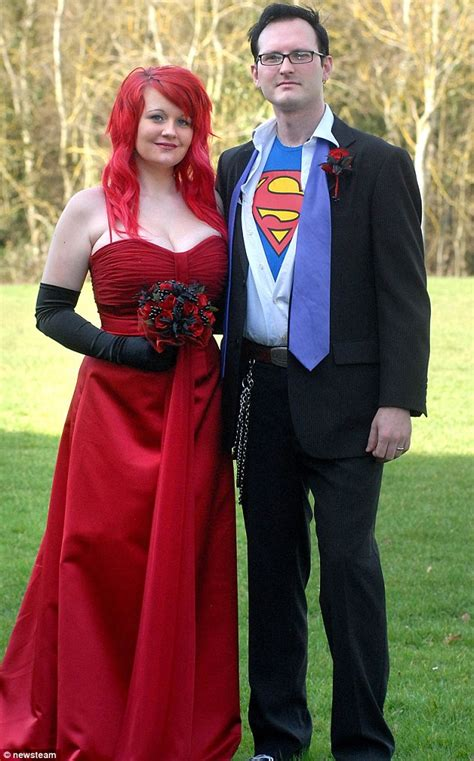 do you take this superman to be your husband wed in comic themed ceremony daily mail