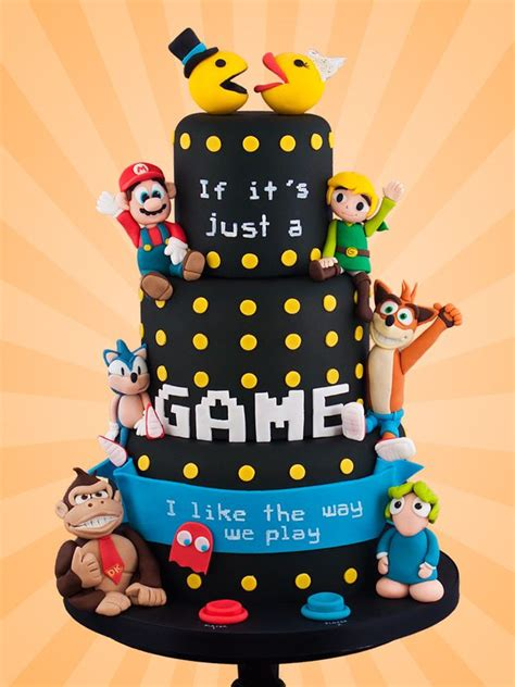 Hochzeitstorte Gamer by Retro Gaming Wedding Cake Nuptials